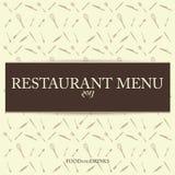 Vector Restaurant Vintage Menu Card Design Template stock photography
