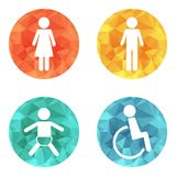 Vector restroom icons Royalty Free Stock Images