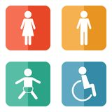 Vector restroom icons Stock Images