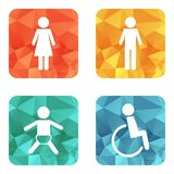 Vector restroom icons Royalty Free Stock Photos