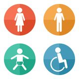 Vector restroom icons Stock Photography