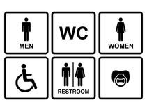 Vector restroom icons Royalty Free Stock Photo