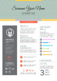 Vector resume template. stock illustration