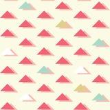 Vector Retro Abstracte Driehoeken op heldere naadloze patroonachtergrond royalty-vrije illustratie