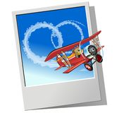 Vector retro airplane Royalty Free Stock Images