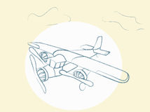 Vector Retro Airplane Stock Images