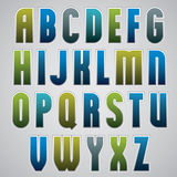 Vector retro alphabet, bold and condensed font in retro poster s Royalty Free Stock Photo