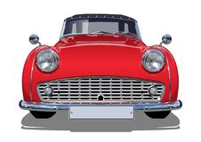 Vector retro auto Royalty-vrije Stock Afbeelding