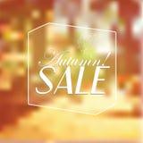 Vector Retro Autumn Sale-typografie Royalty-vrije Stock Afbeelding
