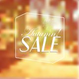 Vector Retro Autumn Sale typography Royalty Free Stock Image