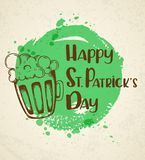 Greeting card for St. Patrick`s day Royalty Free Stock Photography