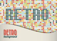 Vector retro background / template. With place for your text Stock Photos