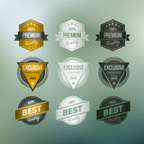 Retro Badge Collection Royalty Free Stock Image