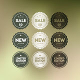 Retro Badge Collection Royalty Free Stock Photography