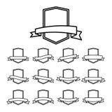 Vector Retro Badges royalty free illustration