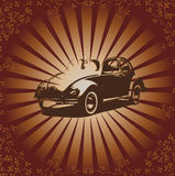 Vector retro beetle Stock Photography