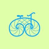 Vector retro bicycle. Line art bike design Stock Photo