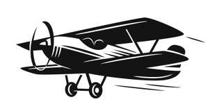 Vector retro biplane Royalty Free Stock Photography