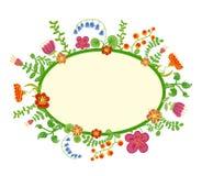 Vector retro bloemenachtergrond, kader Royalty-vrije Stock Afbeelding