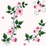 Vector retro bloemenachtergrond met bloemen stock illustratie