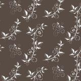 Vector retro bloemenpatroon met bloemen royalty-vrije illustratie