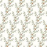 Vector retro bloemenpatroon met bloemen vector illustratie