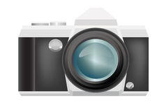 Vector retro camera on  background Royalty Free Stock Photography