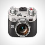 Vector retro camera XXL icon Royalty Free Stock Photo