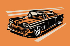 Vector retro car Stock Images