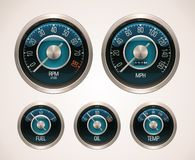 Vector retro car gauges