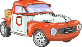 Vector. Retro car. Royalty Free Stock Images