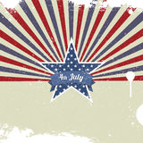 Vector retro card for Independence Day and other events Royalty Free Stock Photo