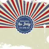 Vector retro card for Independence Day and other events Royalty Free Stock Photos
