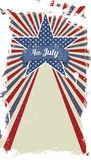 Vector retro card for Independence Day and other events Royalty Free Stock Images