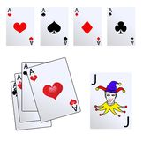 Vector Retro Card Suits Royalty Free Stock Images