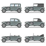 Vector Retro Cars. On white background Royalty Free Stock Image
