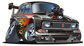 Vector retro cartoon hotrod Royalty Free Stock Photo