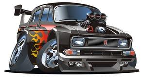 Vector retro cartoon hotrod. Vector hot rod of retro car isolated on white background Royalty Free Stock Photo