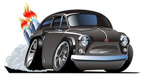 Vector retro cartoon hotrod royalty free illustration