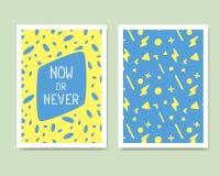 Vector Retro Color Design. Hand Drawn Abstract Modern Style Temp Stock Photos