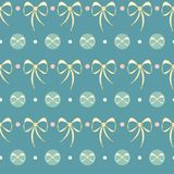 Vector Retro Cute Lace Bows on pastel green. vector illustration