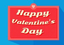 VECTOR retro de la bandera de la tipografía de la tarjeta del día de San Valentín del día feliz del ` s Fotos de archivo libres de regalías
