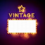 Vector retro de la cartelera del vintage Imagen de archivo