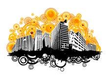 Vector retro de la ciudad del estilo ilustración del vector