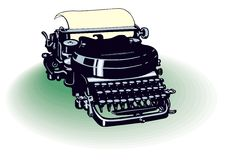 Vector retro de la máquina de escribir Foto de archivo