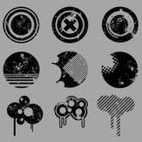 Vector retro de los elementos del diseño Imagen de archivo