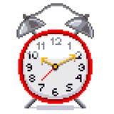 Vector retro del despertador del pixel Foto de archivo