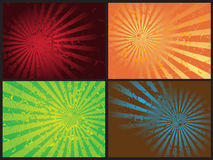 Vector retro del grunge de la explosión de la estrella Foto de archivo libre de regalías
