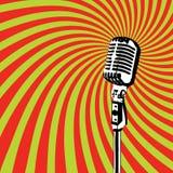 Vector retro 2 del micrófono Imagen de archivo libre de regalías