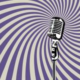 Vector retro 3 del micrófono Imágenes de archivo libres de regalías